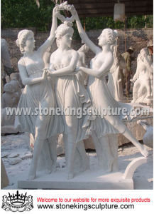 Marble Statue, Marble Sculpture, Stone Garden Statue (SK-2450) pictures & photos
