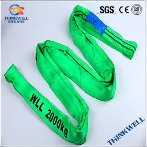 2-5t Round Cargo Webbing Sling, Polyester Lifting Sling pictures & photos