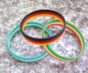 National Flag Silicone Bracelets