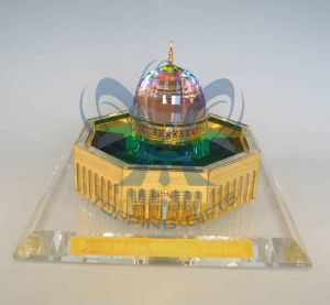 Dome of Rock (Crystal and Gold Model) Large