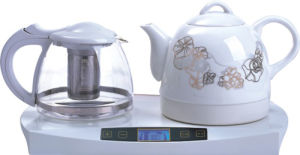 Digital Ceramic Electric Kettle with Glass Teapot Set (HY-2180)