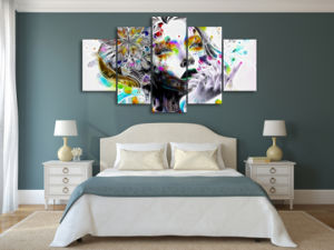 HD Printed Psychedelic Woman Painting Canvas Print Room Decor Print Poster Picture Canvas Mc-149 pictures & photos