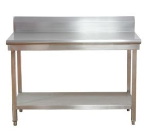 Backsplash Stainless Steel Work Table pictures & photos