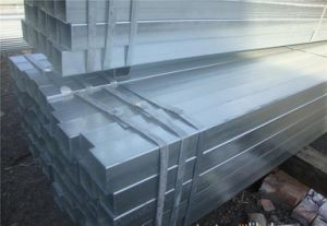 80g Zinc Coated Pre-Galvanized Square Steel Pipe pictures & photos
