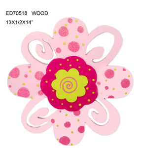Wood Plaque Flower for Wall Decoration (ED70518)
