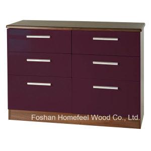 Sufficient Storage 3+3 Drawers Cabinet Dresser Chest (HC18) pictures & photos