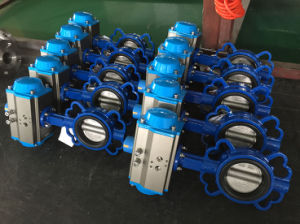 Pneumatic Butterfly Valve with Cast Iron Valve Body pictures & photos