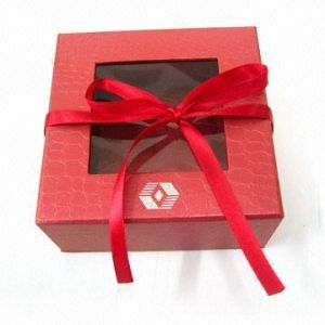 Christmas Paper Box With Clear Window (HPZB-0038)