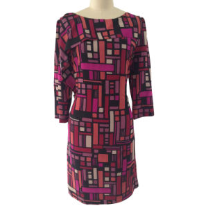 Ladies Printed Polyester Cdc Dress