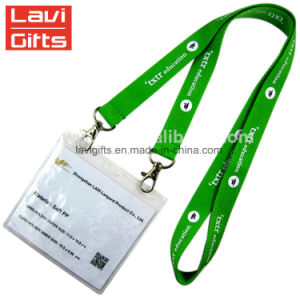 Promotional Custom Logo Neck Nylon Sublimation Heated Transfer Printing Polyester Lanyard with ID Card Holder pictures & photos