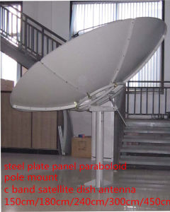 240cm8feet2.4m C Band Satellite Fiber Steel Iron Solid Plate Parabolic Outdoor Digital TV Galvanized Paraboloid GSM Radio WiFi Dish Antenna pictures & photos