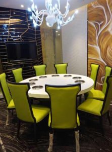 Nano Crystallized Glass Round Table Countertops pictures & photos
