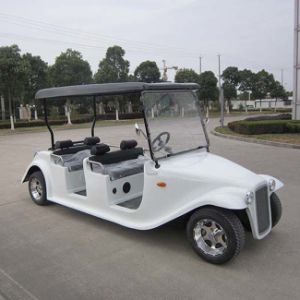 Open Top 6 Seater Electric Vintage Car for Farm Touring (DN-6D) pictures & photos
