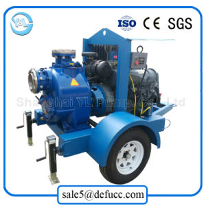 6 Inch Diesel Engine Self-Priming Centrifugal Sewage Pump pictures & photos