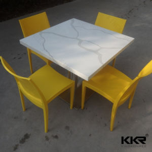 Modern Furniture Marble Top Square Kfc Dining Table pictures & photos