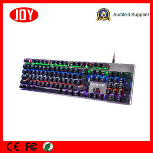 Blue Switch Metal Panel Gaming Wired USB Keyboard pictures & photos