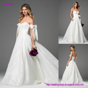 Silky Taffeta Transforms Into a Dreamy Add The Finishing Touch to This Luxurious Ball Gown Wedding Dress with Sweep Train pictures & photos
