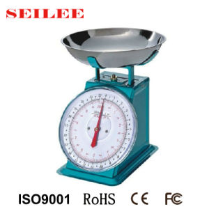 Mechanical Food Kitchen Scale with Stainless Steel Bowl pictures & photos