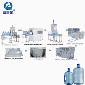 3/5 Gallon Jar Bucket Pail Barrel Pure Water Bottle Washing Filling Capping Machine pictures & photos