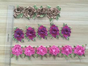 Hot Sale Colorful Flower Design 3D Lace pictures & photos