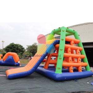 Most Popular Inflatable Waterpark Sea Slide Triangle Inflatable Floating Water Slide pictures & photos