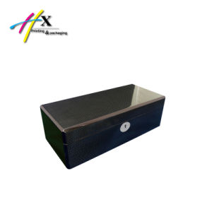 Square Basic Carbon Fiber Wooden Box for Single Watch Packaging pictures & photos