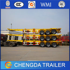 3 Axle 40feet Skeleton Container Truck Trailer pictures & photos