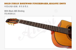 Aiersi Grande Bouche Gypsy Jazz Guitar with Flame Maple pictures & photos