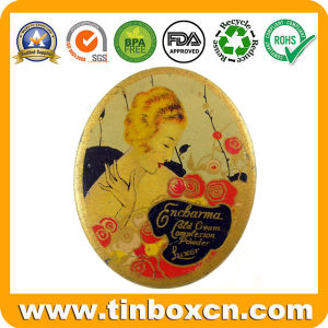 Oval Make-up Tin Box for Shadow and Loose Powder pictures & photos