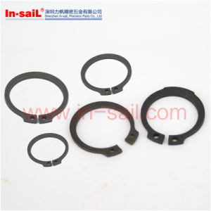 DIN984 Standard Black Spring Internal Circlips with Lugs for Shafts pictures & photos