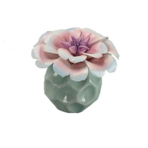 New Style Empty Ceramic Perfume Bottle with Flower Cap pictures & photos