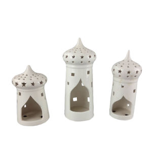 House Shape Ceramic Candle Holder for Islam Decoration pictures & photos