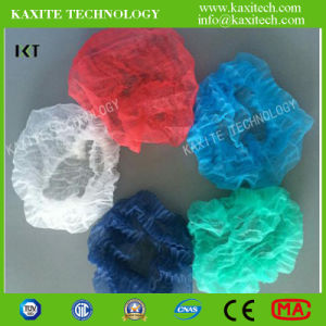 Hospital Use Nice Quality Nonwoven Material Disposable Bouffant Cap pictures & photos