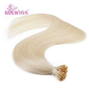 Keratin Hair I Tip Nail Hair Brazilian Human Hair Extension pictures & photos