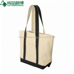 Custom Printed Canvas Tote Bag Cheap Beige White Cotton Shopping Bag pictures & photos