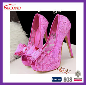 Beautiful Lace Pump High Heels Women Shoes Sandal