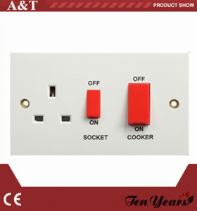 British Range Electrical 45A Cooker Control Switched Socket with LED Indicator pictures & photos