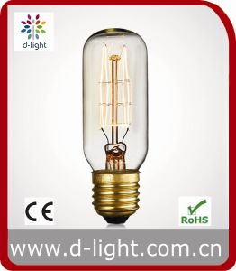 25W 40W 60W E27 B22 Vintage Antique Decorative Clear Amber Gold Tubular T45 T38 T30 T28 T20 Edison Bulb pictures & photos
