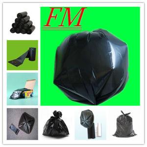 Black Biodegradable Flat Bottom Packaging Plastic Garbage Bag