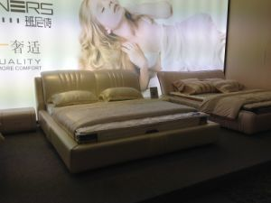 Europe Modern Geniune Leather Bed (SBT-08) pictures & photos