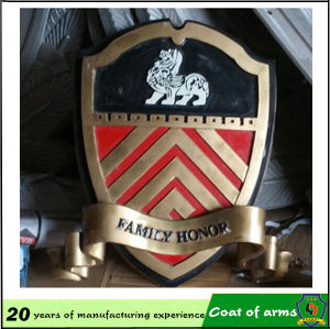 Customized Shield Shape Emblem with Sword pictures & photos