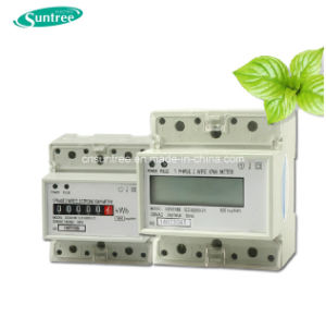DIN Rail Electrical Meter 3 Phase Two Phase Electrical Meter Kw Meter pictures & photos