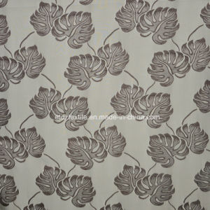 Popular Jacquard Circle Flower Design Window Curtain pictures & photos