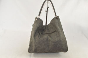 Hot Casual PU Leather Ladies Handbag pictures & photos