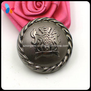 High Quality Black Plastic Shank Button with Raise up Logo pictures & photos