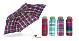 Check Fabric 3 Fold Automatic Umbrella (YS-3FA22083009R) pictures & photos