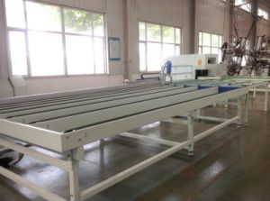 CNC Plastic Window Welding & Cleaning Produce Line, PVC Window Fabrication Line pictures & photos