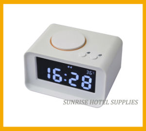 Large LCD Display Alarm Clock with Charging Function for Hotel pictures & photos