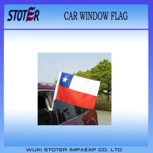 Custom Polyester Chile Car Flag with Pole pictures & photos