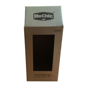 New Design of Kraft Paper Packing Display Box with Die Cut Window for Cup pictures & photos